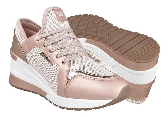 Tenis Para Dama Miss Pink 173825 Simipiel Oro Rosado