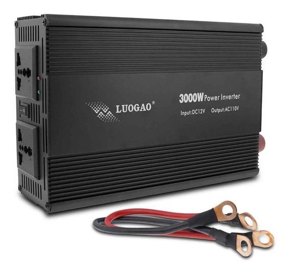 Inversor De Voltagem Automotivo 3000w 12v Para 110v Oferta