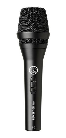 Microfone Akg Perception P3s De Mão Dinâmico P3 S