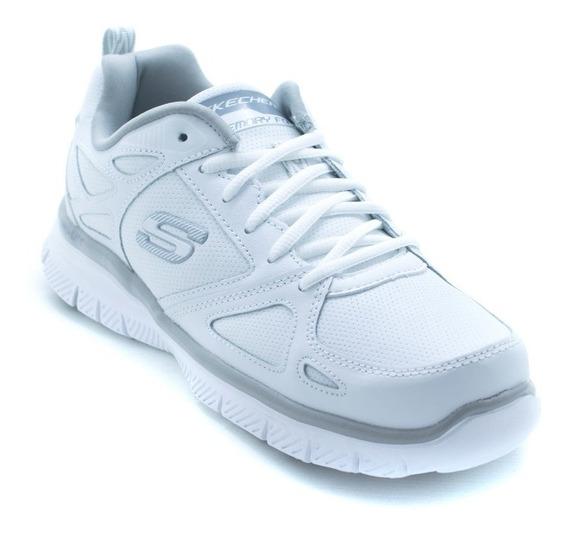 Tenis Skechers Bobs Sport 51461 Blanco Memory Foam Original