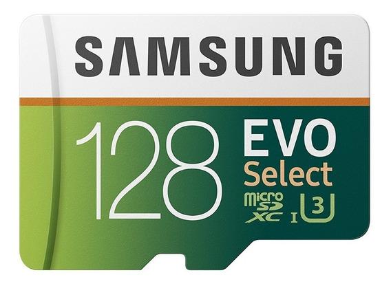 Memoria Micro Sd 128 Gb Samsung Evo Clase 10 4k 100mb/s Sdxc