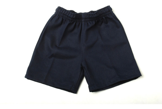 Short Bermuda Colegial/dep Gabardina Azul Talle 2 A 16