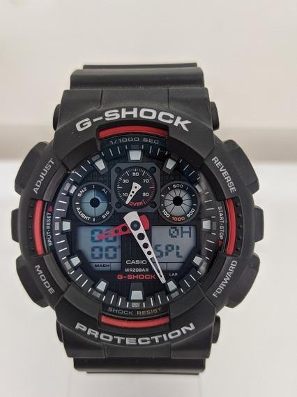 Relógio Casio G-shock Multifunções Masculino (ga-100-1)
