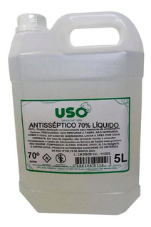 Alcool Antisseptico Liquido 5 Litros Uso