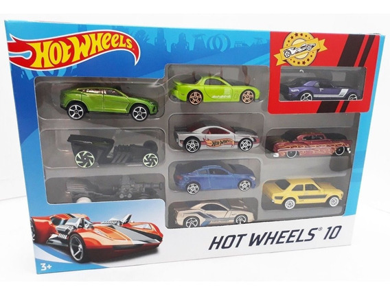 Pack X 10 Autos Surtidos Hot Wheels Mattel