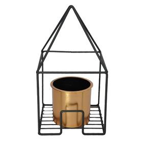 Vaso De Metal E Plástico Geo Forms Triângulo Cobre 17x17x31c