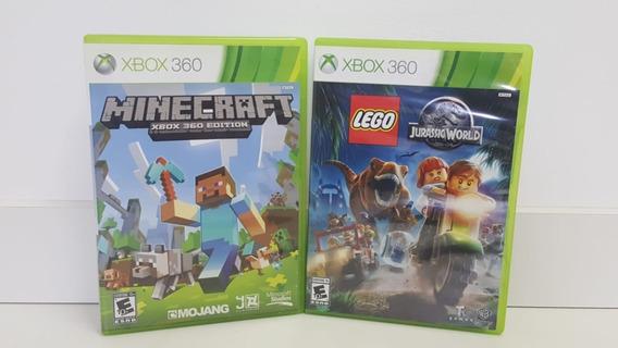 Minecraft + Lego Jurassic World - Xbox 360 -original