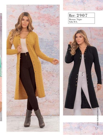 Hermoso Suéter Largo Sweater Saco Tejido Para Mujer Juvenil