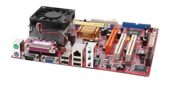 Kit Pcchips M863g V5.1c + Processador + Cooler (defeito)