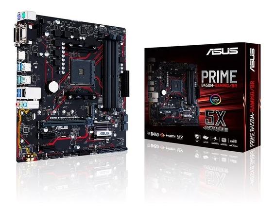 Placa-mãe Asus Am4 Prime B450m-gaming/br 4 X Ddr4