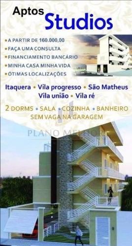 Imagem 1 de 2 de Apartamento Em Condomínio Kitnet Para Venda No Bairro Vila União (zona Leste), 1 Dorm, 1 Suíte, 35 M.ap0852 - Ap0852
