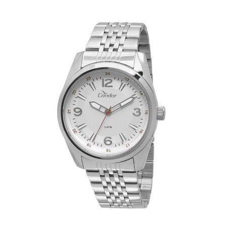 Relógio Condor Masculino Prata, Co2035kqc/3k