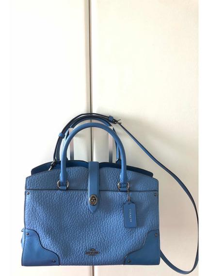 Bolsa Coach Azul Importado Ny Seminova-