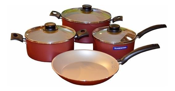 Bateria De Cocina Tramontina 7 Piezas Turim Oferta Roja !!!!