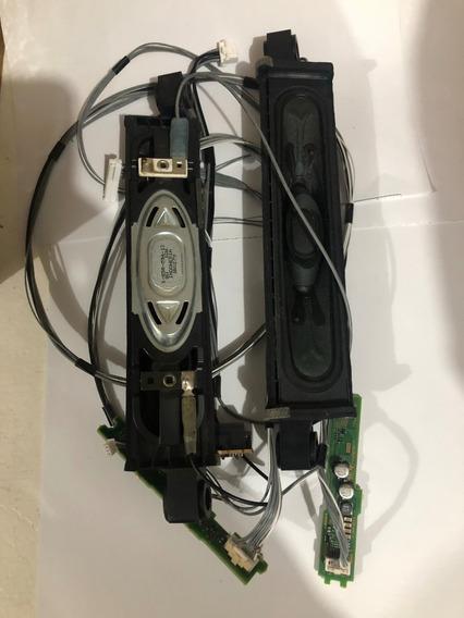 Par Alto Falantes Tv Sony Kdl-55ex725 C/ Aparato Fios Placas