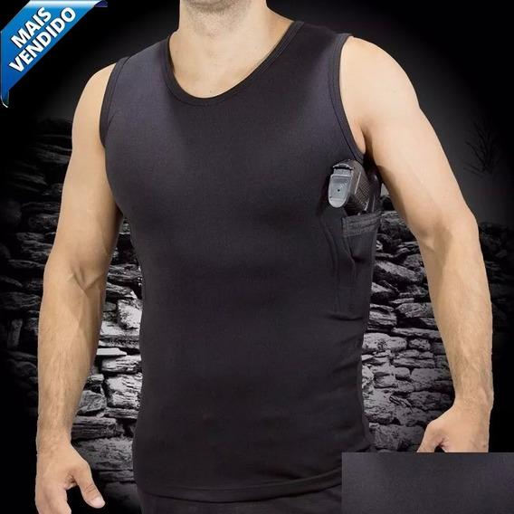 Camiseta Coldre C/ Porta Carregador