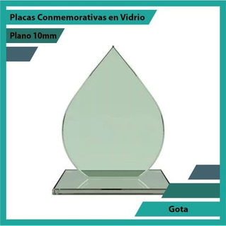 Placas Conmemorativas En Vidrio Gota Pulido Plano 10mm