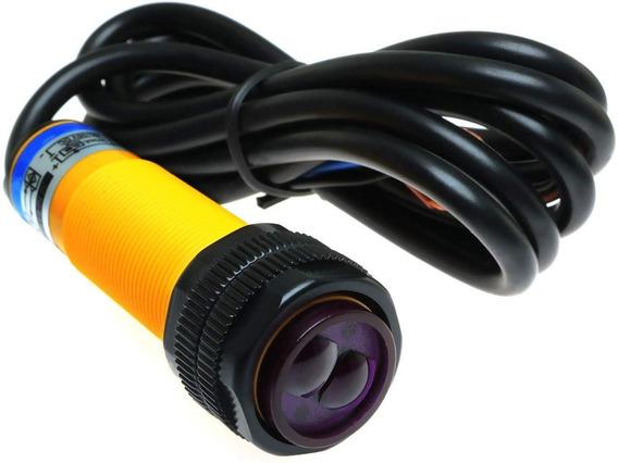 Sensor Fotoelétrico Difuso 0 A 100cm Npn Na E3f-ds100c4 M18