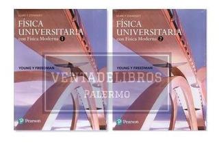 Fisica Sears Zemansky Vol. 1 + Vol. 2 Pearson Nuevo Cerrado
