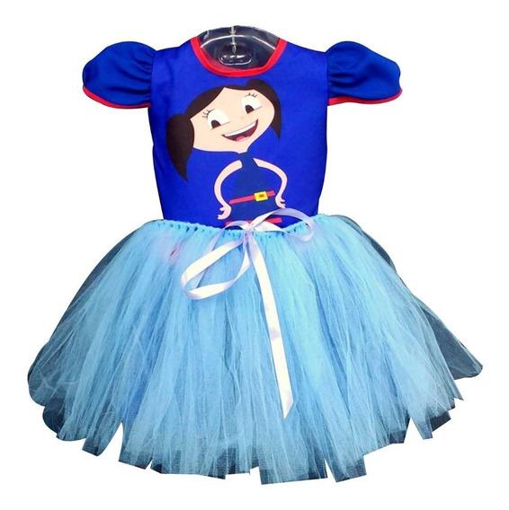 Vestido Infantil Luna Fantasia Show Da Luna Bailarina