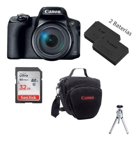 Câmera Canon Powershot Sx70 32gb+bolsa+bateria+tripé