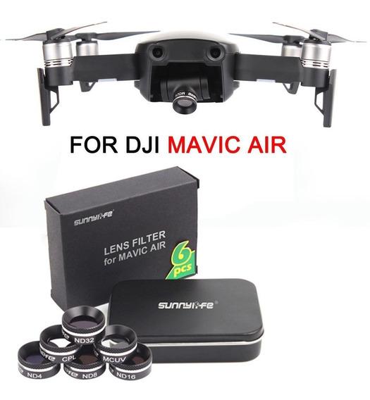 Dji Mavic Pro Air Kit 6 Filtros Nd Mcuv Cpl Lente Câmera