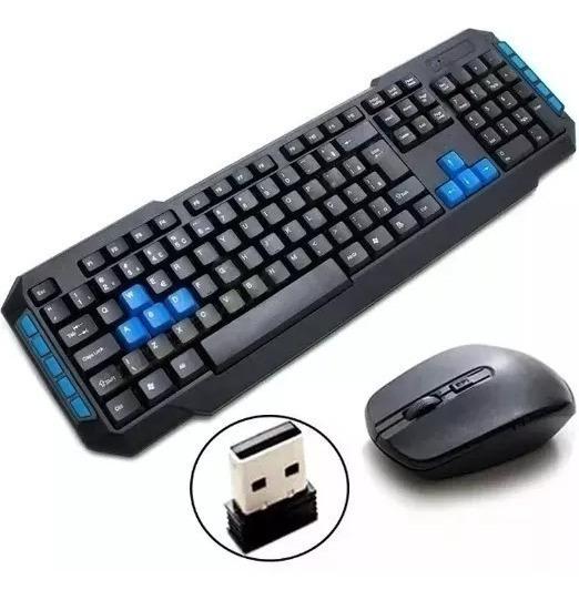 Kit Teclado E Mouse Sem Fio Wireles, Usb Pc Notebook Wb-8099
