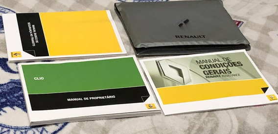 Manual Do Proprietário Renault Clio 2010 2011 Original