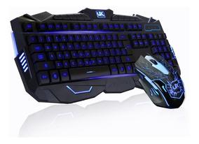 Kit Gamer Tipo Razer Led Teclado + Mouse 1600 Dpi + Fone Usb