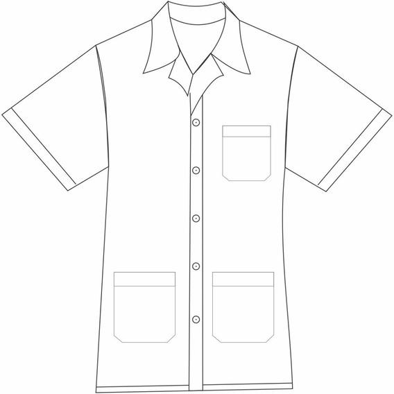 Jaleco Médico Masculino Manga Curta 3 Bolsos - Plus Size