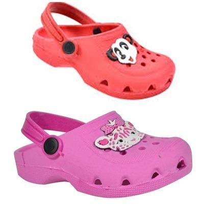 Kit Com 2 Babuches Crocs Infantil Atacado Pronta Entrega