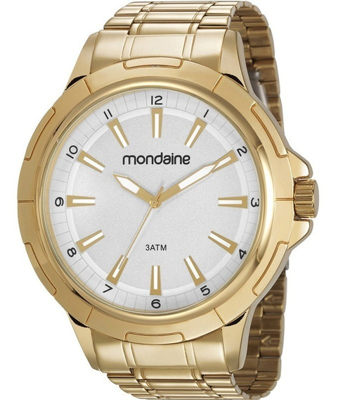 Relógio Mondaine Masculino 83400gpmvde1 Dourado + Nfe