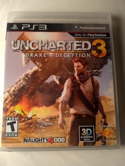 Uncharted 3 Ps3 Mídia Física Original Em Português