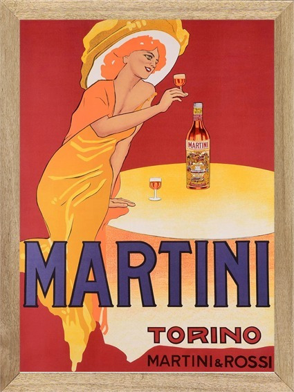 Martini Aperitivo , Cuadro , Bebida, Publicidad X506