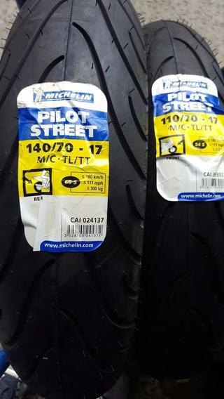 Par Pneu 110/70-17 + 140/70-17 Michelin Street Ninja 250 300