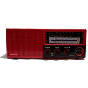 Rádio Portátil Cabeceira 7 Faixas C/aux Vermelho Companheiro