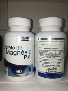 Cloreto De Magnesio P A 500mg - 60 Cápsulas