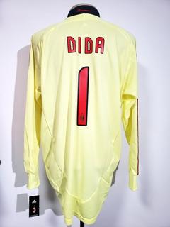 Camisa Oficial Milan Itália 2008 Goleiro #1 Dida adidas Gg