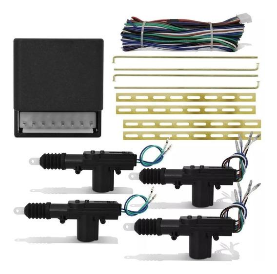 Kit Conjunto Trava Elétrica 4 Portas Universal Dupla Serventia Espaguetada Completa Opcional Trava Pelo Controle E Chave