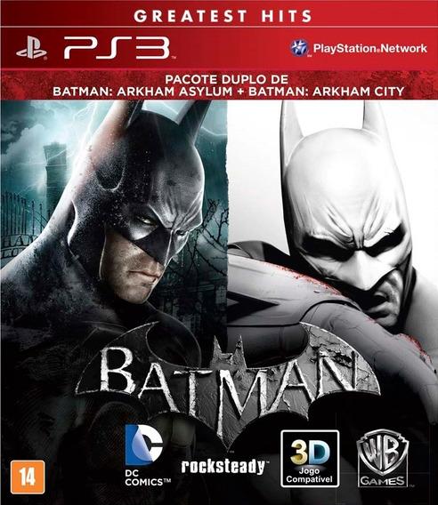 Jogo Pack Batman Arkham Asylum Arkham City Ps3 Mídia Física