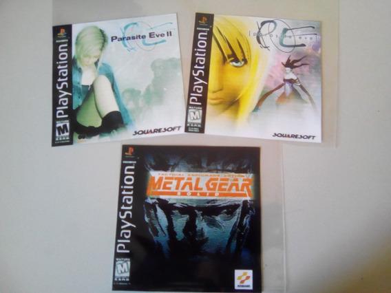 Metal Gear Solid + Parasite Eve 1 E 2 P/ Ps1 (3jogos) Psone