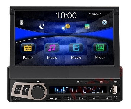 Radio Con Pantalla Retráctil Android Touch Mp5 Gps Bluetooth