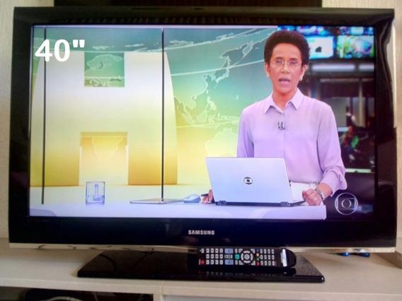 Tv Samsung 40 Lcd Full Hd - Impecável