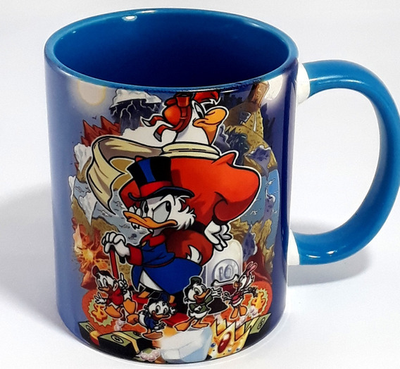 Caneca Ducktales Tio Patinhas - Porcelana Interior Colorido