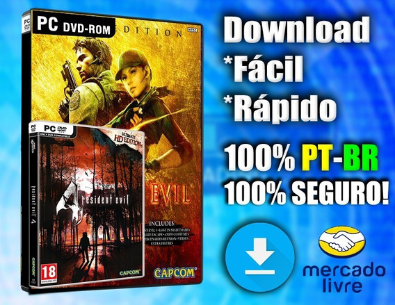 Kit Resident Evil 4 E Resident Evil 5 Pc - 100% Pt-br