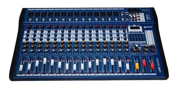 Mesa Som Lexsen 16 Canais Com Efeitos Interface Usb Lmx16usb