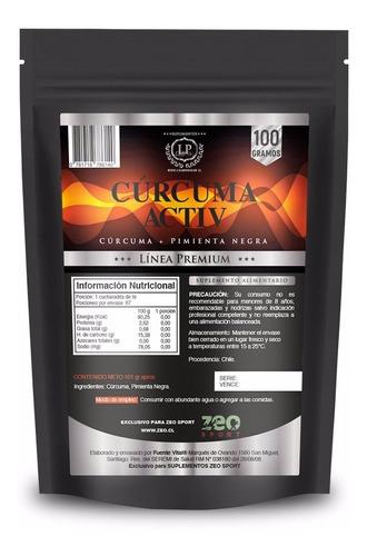 Cúrcuma Activada Con Pimienta Negra, 100 Gr. Calidad Premium