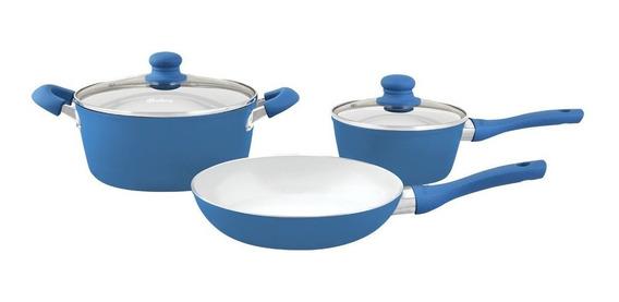 Bateria De Cocina Induccion Hudson Ceramica 5 Piezas