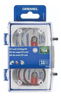Kit Dremel Ez-lock Ez688 - Mandril Ez402 + 10 Discos Corte