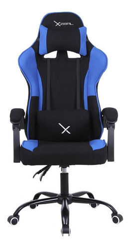 Imagen 1 de 5 de Silla de escritorio Xzeal XZ20 gamer ergonómica  negra y azul